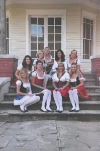 Brewfest Girls on Steps of House